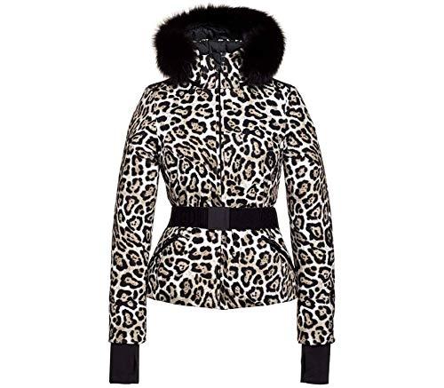 GOLDBERGH W Wild Faux Fur Braun-Weiß, Damen Daunen Freizeitjacke, Größe 40 - Farbe Leopard