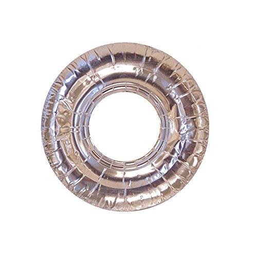 104 Pc Aluminum Foil Round Stove Gas Burner Bib Liners Covers Disposable 7.5