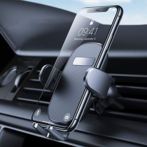 AINOPE Car Phone Holder Hook Like Clip Car Phone Mount Auto Release Phone Mount car Compatible with iPhone 11/11 pro/XR/X, Note 9/Galaxy S10/S9