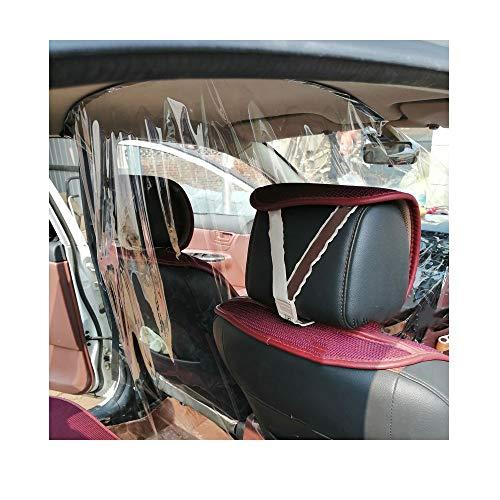 Beilaishi Autobestuurder Gesloten stoel transparante isolatie Bescherming Gordijn bestuurderscabine antischuim stofdicht pvc-scheidingswand Film voor Taxi/privéauto universeel gebruik