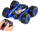 yanzz Coche teledirigido, Coche de Carreras de Alta Velocidad 12KM/h de Doble Cara 360 & deg;Flip Stunt Car 4WD Todoterreno 2.4Ghz camión, Todo Terreno RC Stunt Car Regalo para niños (Color: AZ