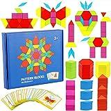 KanCai Tangram Infantil Juguetes Montessori De Madera 155 PCS Jigsaw Puzzle,...