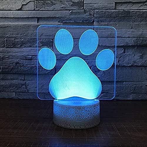 Gift Night Lamp For Kids 3D Light 7 Colors Change With Remote Holiday And Birthday Gifts Ideas For Children-N32