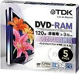 Media TDK 録画用DVD-RAM デジタル放送録画対応(CPRM) インクジェットプリンタ対応 2-3倍速 日本製 5mmスリムケース 5枚パック DRAM120DPB5U
