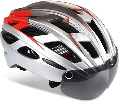 KINGLEAD Casque de vélo Unisexe avec visière de Protection aimantée Amovible et réglable