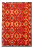 FAB HAB Lhasa - Naranja y Violeta (90cm x 150cm)