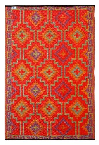 Fab Habitat Lhasa - Alfombra, 120 x 180 cm, Color Naranja y Violeta