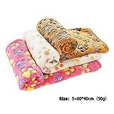 PET SPPTIES 3 Pezzi Caldo Morbido Coperte in Morbido Pile per Cucciolo,Animali Domestici, Cani e Gatti PS016(Pink+Beige+Coffee,60cmx40cm)