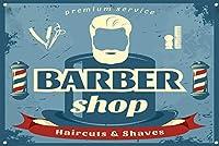 理髪店ロゴメタルロゴ理髪店ロゴスタイルの理髪師ロゴレトロスタイルのメタルロゴ8X12インチ