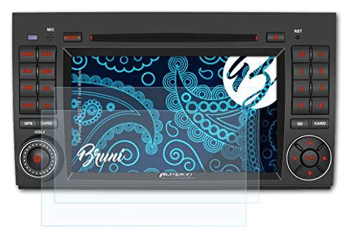 Bruni Schutzfolie kompatibel mit Pumpkin ND1071B 7 Inch Mercedes Folie, glasklare Bildschirmschutzfolie (2X)