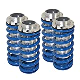 Fit Honda Civic/Accord/Acura Integra Adjustable Coilover Lowering Spring (Scale) Blue w/Silver Sleeve