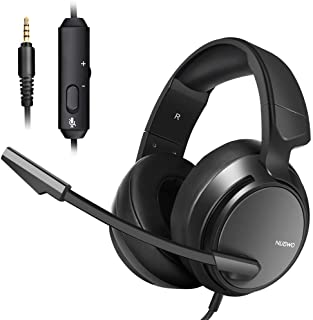 Micolindun Stereo Gaming Headset for PS4,PS5, Xbox One, PC with LED Bass Surround Soft Memory Earmuffs, Noise Cancelling O...