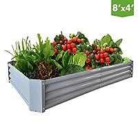 Galvanized Steel Raised Garden Bed Kit