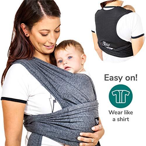 Koala Babycare® - Fular Portabebés fácil de usar (fácil de colocar), unisex ajustable, la mochila portabebes multiusos apropiada hasta 15 kg. Fular portabebés elastico - Koala Cuddle Band