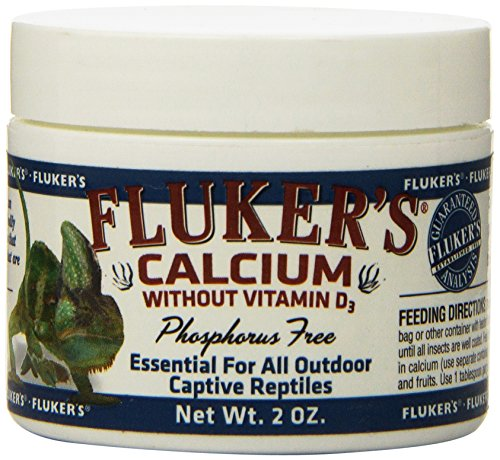 Fluker's Reptile Calcium Supplement Without Vitamin D3, Black, 2-Ounce (73015)