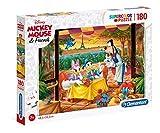 Clementoni- Disney Classic Puzzle Suelo, 180 Piezas, Multicolor, 180pezzi (29296)
