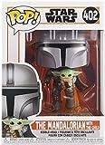 Funko- Pop Star Wars The Mandalorian-Mando Flying w/Jet Pack Figura coleccionable, Multicolor (50959)