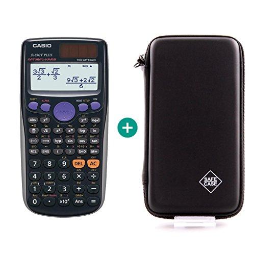 Casio FX 85 GT Plus Schwarz + Schutztasche
