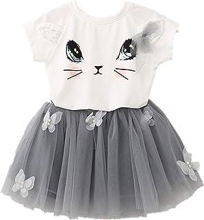Lee Little Angel 2018女の子のドレスプリンセスパーティーダンスドレスツーピーススーツ