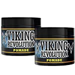 Pomade for Men 4oz - Firm Strong Hold & High Shine for Classic Styling - Water Based & Easy to Wash Out by Viking… 2