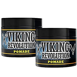 Pomade for Men 4oz - Firm Strong Hold & High Shine for Classic Styling - Water Based & Easy to Wash Out by Viking… 7