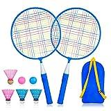 YWSS Set di Racchette da Badminton Bambini 1 Paio, Set da Badminton per Bambini, Set di Racchette