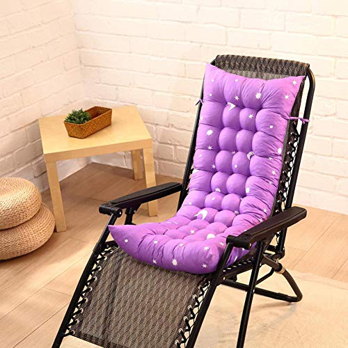 KLGZ Decoración Informal, patrón para Las Estrellas Cojín de sofá de Respaldo Alto de algodón con tapete de Tatami para sillas de balcón o Asientos al Aire Libre 110 x 40 cm. A