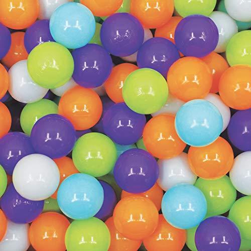 LUDI - Carton de 250 balles multicolores souples en...