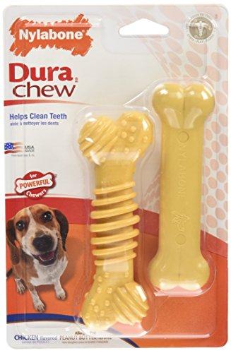 Nylabone Dura Chew Regular Chicken Flavored Textured Bone Dog Chew Toy