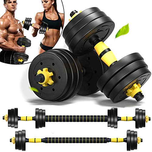 Weights Dumbbells Set Adjustable Dumbells Barbell Set of 2, Weights for Exercises 20lb/30lb/40lb (40lb (20lb x 2))