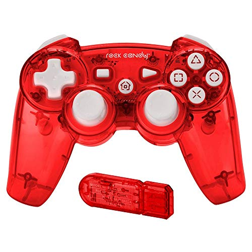 PDP Rock Candy Wireless Controller, Red - PlayStation 3
