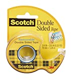 Scotch Double Sided Removable Tape with Refillable Dispenser, 3/4 x 200 Inches, 1-Pack (238)