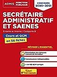 Concours Secrétaire administratif et SAENES - Catégorie B - Cours et QCM en fiches - Concours 2020 - 2021