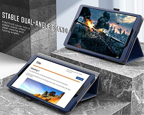 MoKo Hülle Kompatibel mit Lenovo Tab M8 HD (TB-8505F / TB-8505X) / Smart Tab M8 TB-8505FS / Tab M8 FHD TB-8705F, Schlanke Leichte TPU Schutzhülle Tablet Cover Ständer Case, Indigo