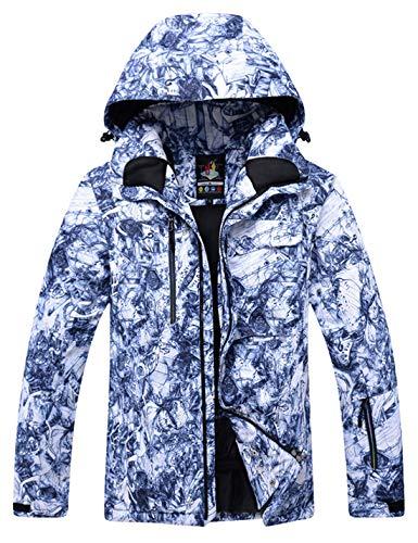 APTRO Skijacke Herren warm Jacke gefüttert Winter Jacke Regenjacke Blau TY05 L