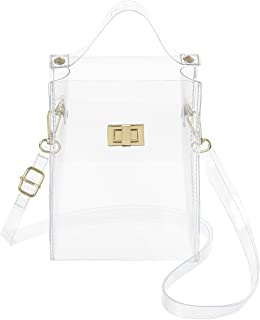 MINICAT Clear Small Crossbody Bags Stadium Approved Cell Phone Purse Wallet For Women