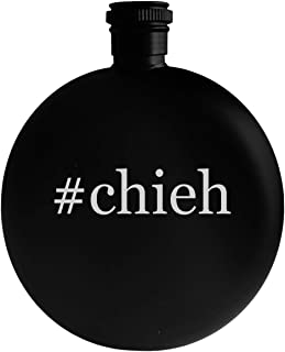 #chieh - 5oz Hashtag Round Alcohol Drinking Flask, Black