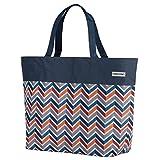 Anndora - Borsa shopper o da spiaggia, misura XXL, colore a scelta Blu scuro/arancione. xxl