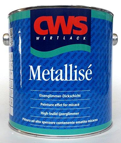 CWS Metallisé silber, 2,5L - Dickschichtiger, lösemittelhaltiger, hochviskos eingestellter 1-Komponenten Beschichtungsstoff als dekorativer Korrosionsschutz für den Innen- und Aussenbereich.