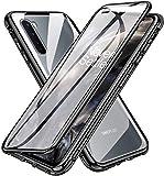 Für OnePlus Nord 5G Hülle,【Vorn + Hinten 9H Glas,Stark Magnetisch Hülle mit Magnetischer Adsorptionskasten Metall Rahmen 360 Grad Komplett Schutzhülle für OnePlus Nord 5G Cover