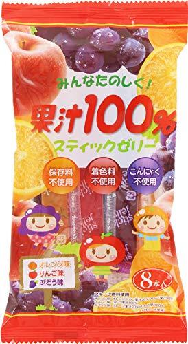リボン 8本 果汁100% スティックゼリー 8本 ×12袋