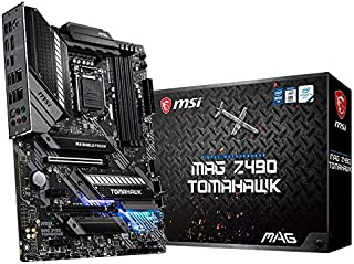 MSI MAG Z490 TOMAHAWK Gaming Motherboard (ATX, 10th Gen Intel Core, LGA 1200 Socket, DDR4, CF, Dual M.2 Slots, USB 3.2 Gen...