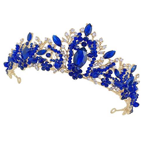 Lurrose Corona de Tiara de Cristal de Diamantes de Imitación Tiaras Y...