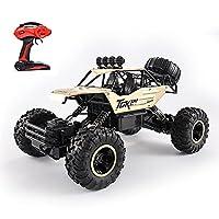 Slreeo 1/12スケール14.6インチ大型RCカー2.4Gリモコン車4WDすべての地形オフロード車両合金モンスタークライミングRCトラックおもちゃ車のキット電池を持つ子供のための車のキット (色 : ゴールド)