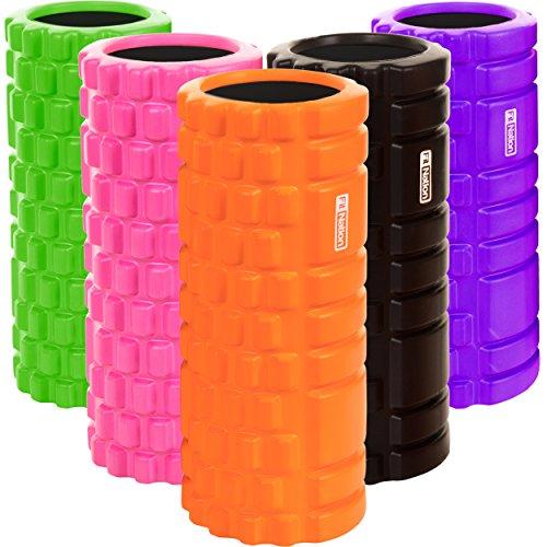Foam Roller - Rullo Massaggiatore Indeformabile per Trigger Point Therapy - Automassaggio Muscolare a Rilascio Miofasciale - 33 X 14 cm - Ideale per Crossfit, Stretching, Yoga, Pilates, Fisioterapia