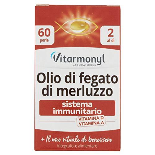 Vitarmonyl Olio di Fegato di Merluzzo, Integratore 60 perle - 24.36 g