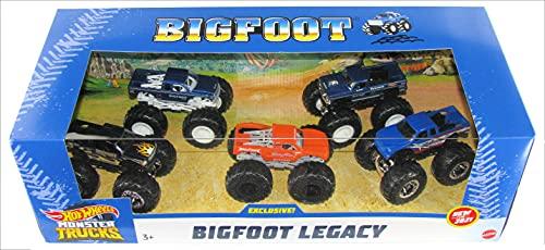 Hot Wheels 2021 Monster Trucks Bigfoot Legacy 5-Pack