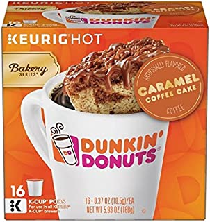 Dunkin Donuts Caramel Coffee Cake Keurig K-Cups (32 count) - Packaging May Vary