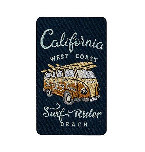 MQ California - Hippie Bus - Aufnäher Aufbügler Applikation Patch - ca. 4 x 6,5 cm