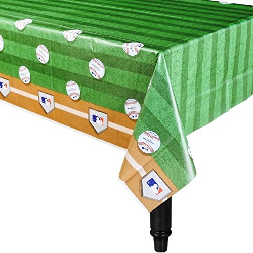 Amscan Rawlings Baseball MLB Plastic Table Cover, 54 x 102""